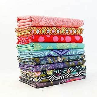 Free Spirit Tula Pink Half Yard Bundle (10 pcs) - Tula Pink 18 x 44 inches Fabric cuts DIY Quilt Fabric