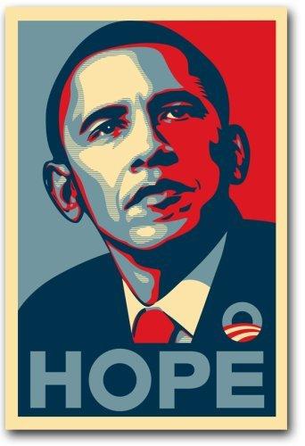 Barack Obama RARE Campaign Poster - 16 x 25 inch Poster - HOPE Poster Print frameless art gift 40 x 63 cm