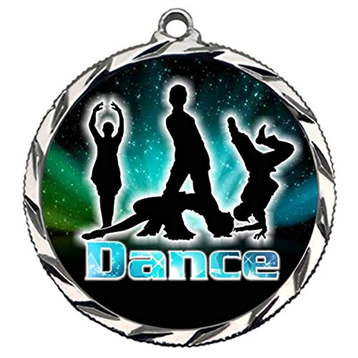 Express Medals Silver 2nd Place Modern Dance Medal with Neck Ribbon Award 022