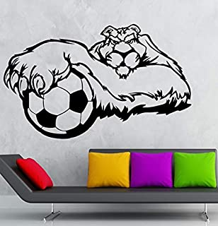 hwhz 57 X 35 cm Wall Sticker Vinyl Decal Sports Soccer Animal Tiger Mascot