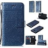 JOMA-E Shop Funda para Nokia 9.1, diseño de elefante en relieve, de piel de primera calidad, tipo libro, con ranura...