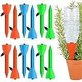 Fostoy Automatisch Bewässerung Set,12 Selbstbewässerungsspikes System,Pflanzen Blumen Bewässerung mit Einstellbar Ideal Wasserversorgung Während Ihrem Urlaub