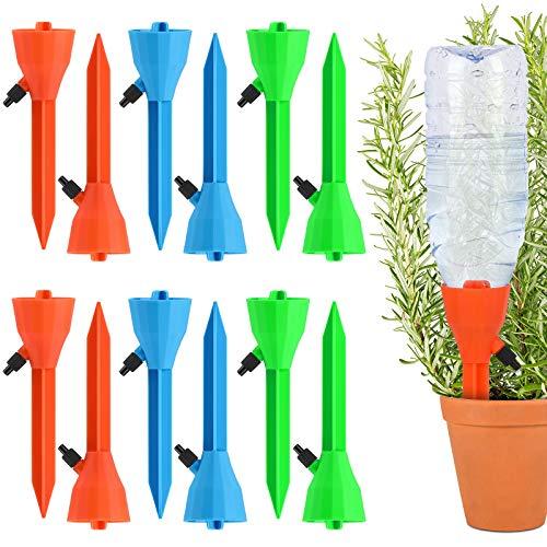 12 Pcs Riego por Goteo Automático Kit,Sistema de Riego Automático por Goteo,Dispositivos de riego domésticos de Plantas, Flores, Bonsai