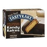 Tastykake Kandy Kakes Dark Chocolate Peanut Butter Snack Cakes, Family Pack of...