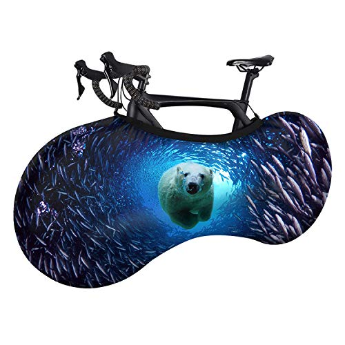Brilliant-store Bike Cover Dustproof Stretch Jersey Marine Animal Shark Dolphin Print Mountain Bike Cover-C0301F1-One Size