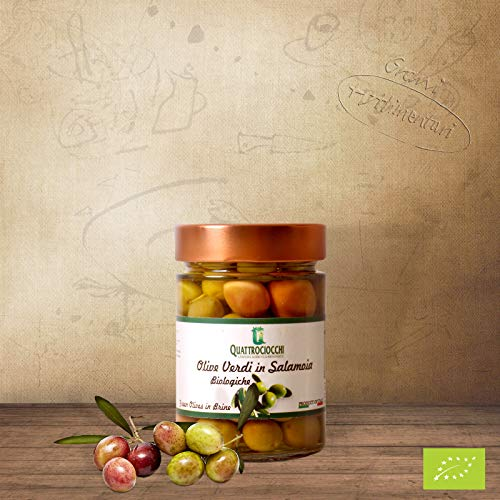 "Quattrociocchi""Itrana"" Oliven grün Glas-Bio 350g"