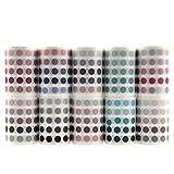 10 Rollen Washi Tape Set, NogaMoga 60mm Breite Dot-Serie Dekorative Klebebänder mit mehr als 13000 Stück Aufkleber für Kunst, Heimwerker, Handwerk, Bullet Journals, Planer, Scrapbooking