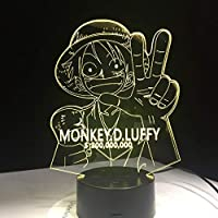 ナイトライト3D、3D LedタッチスイッチナイトライトテーブルランプUsb 7色の雰囲気の装飾Ledランプ誕生日プレゼント