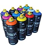 Evolve 12 pack, MTN, Montana, Belton & Molotow & Ironlak Spray Paint