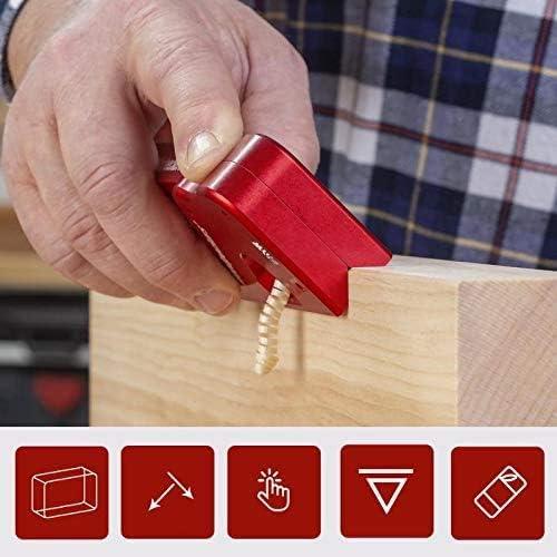 Nouveau plan dangle de bord de travail du bois raboteuse de coupe de chanfreinage /à la main de bricolage Noir raboteuse de lissage de menuisier de coins de raboteuse manuelle de bloc en m/étal