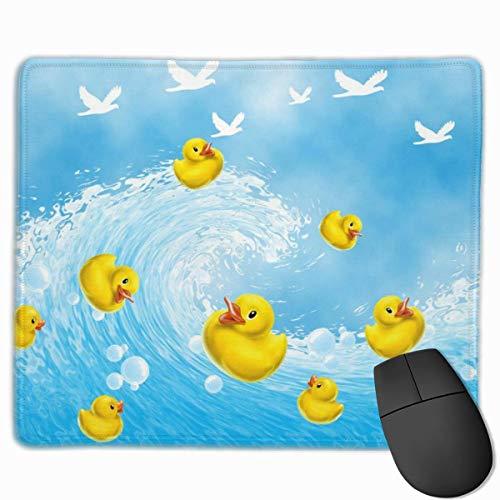 Gaming Mouse Pad Nette Gummienten Enten Schwimmen Blasen Mauspads Matte Mousepad mit rutschfestem Gummi für Computer Laptop Office Home