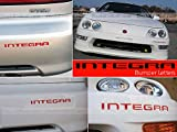 SFSalesUSA - Red Bumper Letters for Acura Integra 1998-2001 Letter Inserts Not Decals