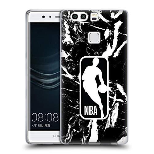 Head Case Designs Ufficiale NBA Marmoreo 2019/20 Logoman Cover in Morbido Gel Compatibile con Huawei P9 Plus