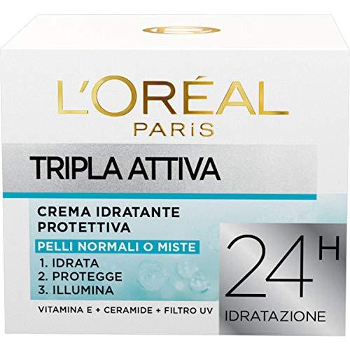 L'Oréal Paris Dermo Expertise Soin Tripla Attiva Crema Idratante Protettiva per Pelli Normali o Miste - 50 ml