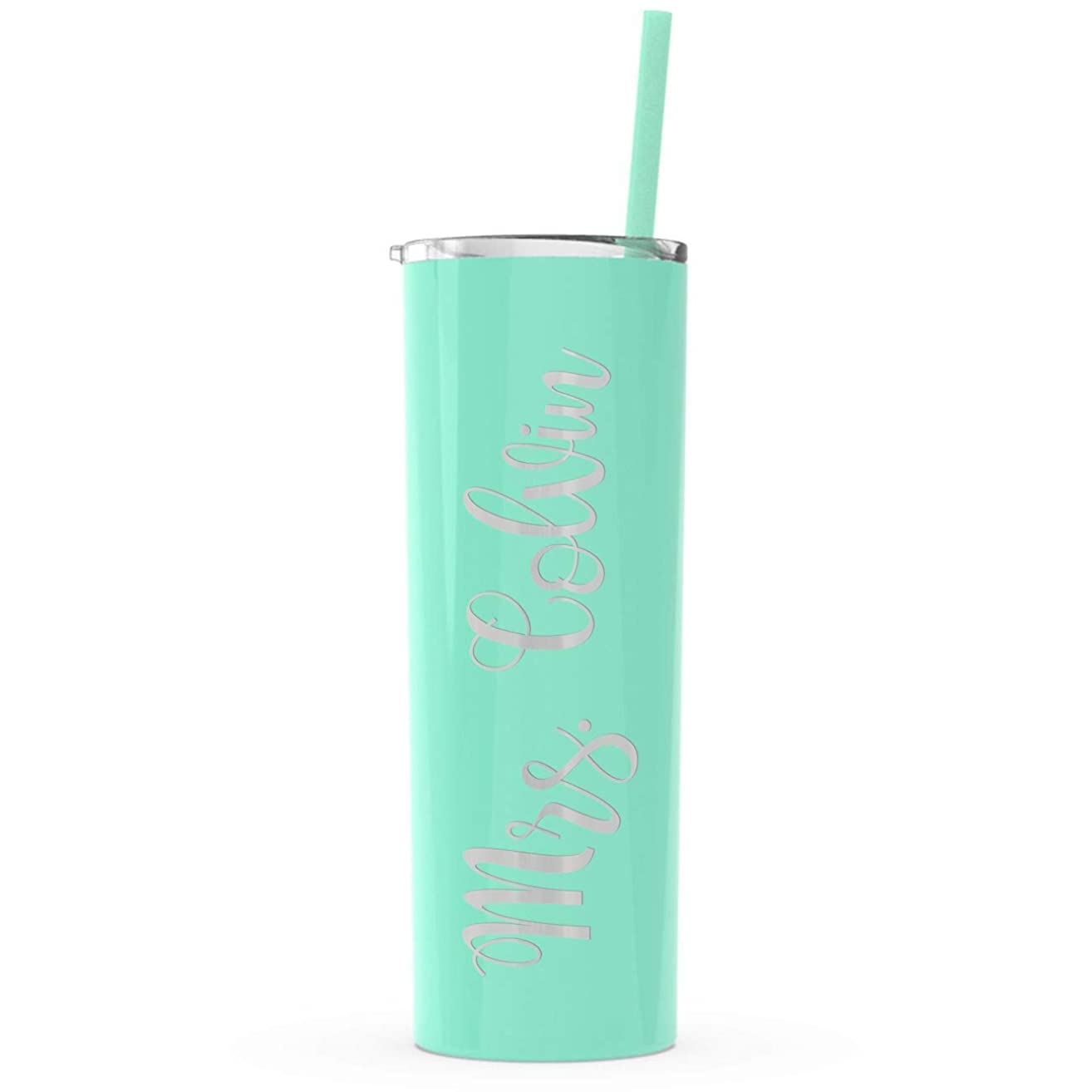 Teacher gift, Personalized Name, Tumbler Water Bottle, 20 oz, Engraved, Color Options