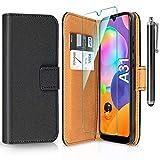 ivencase Funda Compatible con Samsung Galaxy A31 y Protector de Pantalla y Pen, Libro Caso Cubierta la Tapa magnética...
