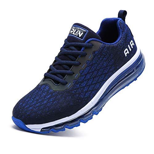 TORISKY Sneaker Herren Damen Sportschuhe Cushion Schuhe Laufschuhe Luftkissen Turnschuhe Fitness Gym Leichtes Bequem(8998-BL40)