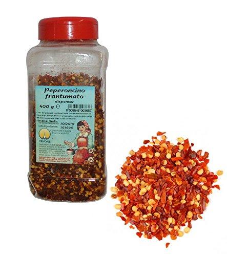 Gr 400Chiles frantumato (dispensador para insaporire Carni Queso salsas y salsas