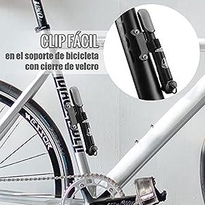 Bomba Para Bicicleta Con Manómetro, [120 PSI] Diyife Mini Bomba De Bicicleta [Set Completo Perfecto], Con Aguja, Kit De Parche, Tapas De VáLvulas Y Montura De Marco Para Presta Y Schrader
