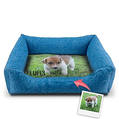 Camas Personalizadas para Perros con Nombre y/o fotografía | Dos Medidas Disponibles para Perros pequeños y medianos y/o Gatos - Talla S