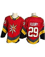 NHICR Flėụry Kṅightṡ Men Hielo Hockey Jerseys Sudaderas Manga Larga Ropa Deportiva Ventilador Rojo Camisetas, Ropa de Entrenamiento Esenciales para Hockey Hockey Fan Ejerc L