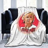 Madge Benidorm - Manta de franela de forro polar para todas las estaciones, luz para sala de estar o dormitorio (152,4 x 127 cm)