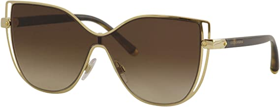 Dolce and Gabbana DG2236 02/13 Gold DG2236 Butterfly Sunglasses Lens Category 3
