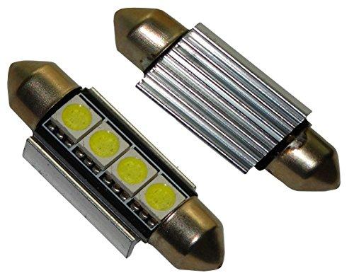 AERZETIX: 2X Ampoule veilleuses C5W 12V 4LED SMD Blanc Effet xénon 39mm éclairage intérieur Plaque d'immatriculation seuils de Porte plafonnier Pieds Lecteur de Carte Coffre Compartiment Moteur