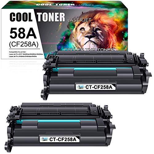 Cool Toner Compatible Toner Cartridge Replacement for HP 58A CF258A 58X CF258X Toner HP Laserjet Pro M404n M404dn MFP M428fdw M428fdn M404dw M428dw M404 M428 M304 Printer Toner Ink (Black 2-Pack)
