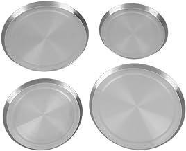 LetCart Cubierta Superior de la Estufa - 4 Piezas/Juego Cubiertas de Quemador Superior de la Cocina de Acero Inoxidable Protección de la Cocina
