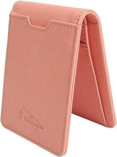 Pink RFID Wallet For Women - Genuine Leather RFID Blocking Bifold - Multi Card Case Wallet