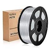 PETG 3D filament SUNLU 1.75mm 1KG(2.2lb), PETG 3D Printer Filament, Dimensional Accuracy +/- 0.02 mm, 1 kg Spool, 1.75 mm,transparent