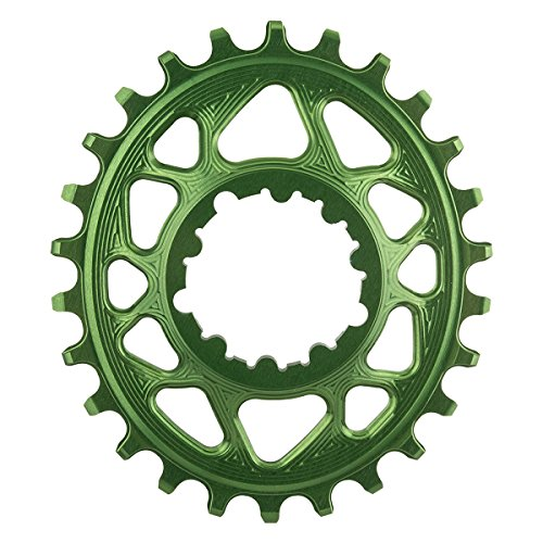 absoluteBLACK Ovales Kettenblatt für SRAM XX1 Spiderless Froggy Green Ausführung 26T 2020 Kettenblätter