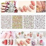4 piezas Primavera Verano Frutas 3D Autoadhesivo Nail Art Stickers Kit Set de calcomanías para uñas Nuevo diseño Nail Art Decoration Foil Tips Herramienta de manicura DIY