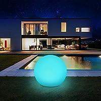 Solarlampen für außen, infray Solarleuchten für außen, Solar Gartenleuchten 30cm Solarkugel mit 9 Modi Leuchte, IP67...