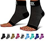 SB SOX Compression Foot Sleeves for Men & Women - BEST Plantar Fasciitis Socks for Plantar Fasciitis Pain Relief, Heel Pain, and Treatment for Everyday Use with Arch Support (Black, X-Large)