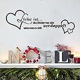 ufengke 'Liebe ist das Einzige' Spruch Zitat Wandsticker, Wohnzimmer Schlafzimmer Entfernbare Wandtattoos Wandbilder