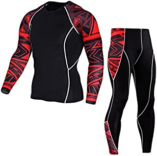 Gergeos Clearance Mens Yoga Athletic Tracksuit Workout Leggings Fitness Sports Gym Running Clothing Set
