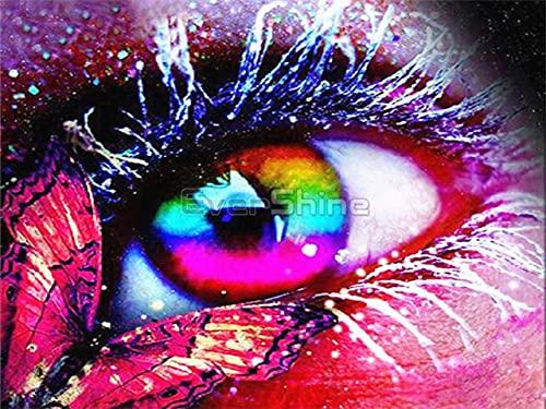 5D DIY ojo diamante bordado Animal mariposa punto de cruz imagen de diamantes de imitación manualidades regalo pintura de diamante A9 50x70cm