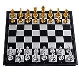 Junta Juego de ajedrez Juego Grande Conjunto Plegable magnético Tablero de ajedrez portátil Principiante Enseñanza de Ajedrez for Niños/Los niños/Adultos (Size : 4912)