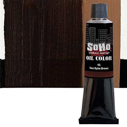 SoHo Urban Artist Oil Color Paint - Professional Highly Pigmented for Canvas Painting - 170 ml Van Dyke Brown