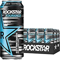 12-Pack Rockstar Xdurance Energy Drink, Cotton Candy 16 oz Cans