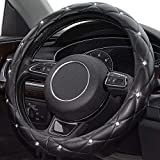 Xizopucy Diamond Bling Leather Steering Wheel Cover, Cute Soft...