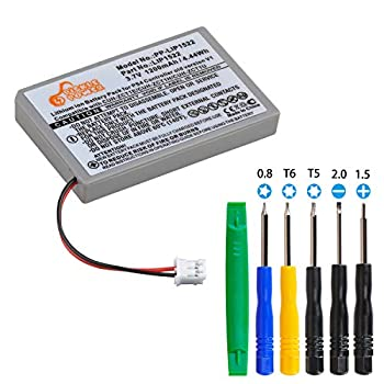 3.7V 1200mAh Rechargeable V1 Battery Replacement for Sony Dualshock 4 CUH-ZCT1U CUH-ZCT1E PS4 Wireless Controller Battery with Big Plug fit for CUH-ZCT1H CUH-ZCT1H/B CUH-ZCT1H/R 2015 & Older Models.