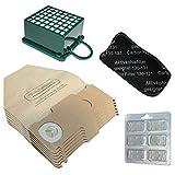 Lot de 6 sacs et sachets 6 rafraichisseurs Filtre HEPA/odeurs filtre EPA pour aspirateur Vorwerk...