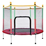 Generisc Kinder Trampolin Rot, Indoor/Outdoor, Durchm. 140cm, extra stabil und sicher