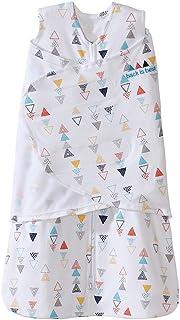 HALO Sleepsack 3-Way Adjustable Baby Swaddle, 100% Cotton - Neutral Triangles, Newborn