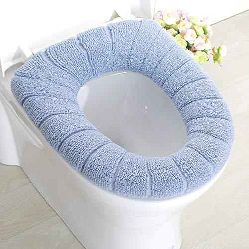 Toilet Seat1Pc Comfortabele Dikke Gebreide Fluwelen Koraal Badkamer Toilet Seat Cover Wasbaar Closeestool Standaard Pompoen Patroon Zachte Kussen