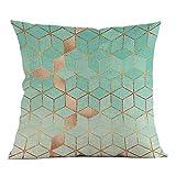 VJGOAL Moda impresión geométrica cómoda Almohada Cintura Cuadrado Funda de cojín sofá decoración para el hogar(45_x_45_cm,Multicolor4)