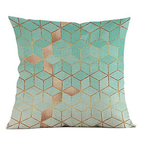 VJGOAL Moda impresión geométrica cómoda Almohada Cintura Cuadrado Funda de...